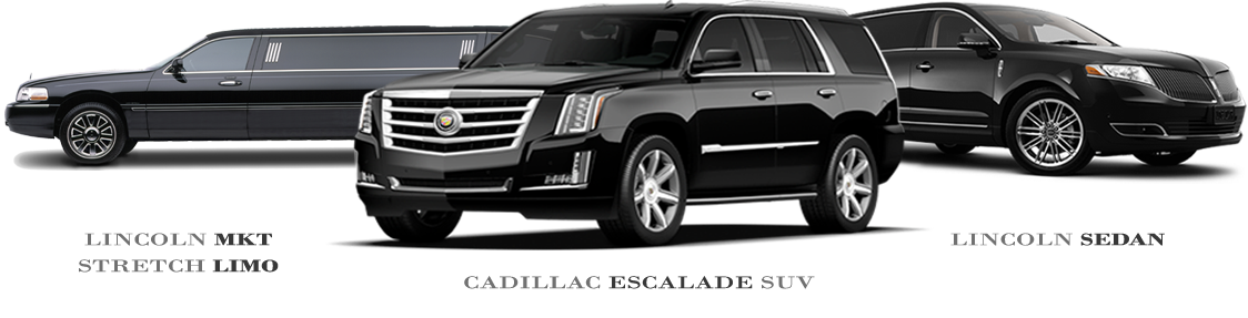 Lincoln Sedan, Cadillac Escalade SUV, Lincoln MKT Stretch Limo